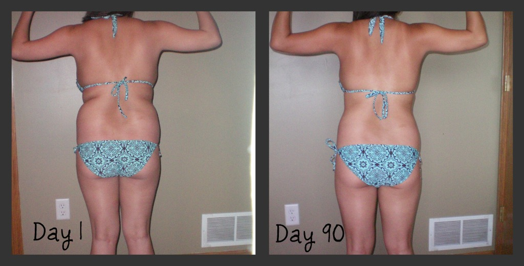 P90x Results Women Day 30 1 And Day 30 Doing P90x